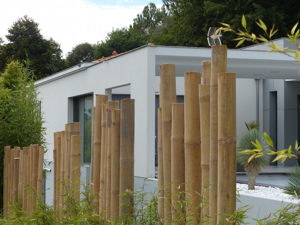 Réalisation d\'une palissade bois ou bambous sur le bassin d\'Arcachon ...