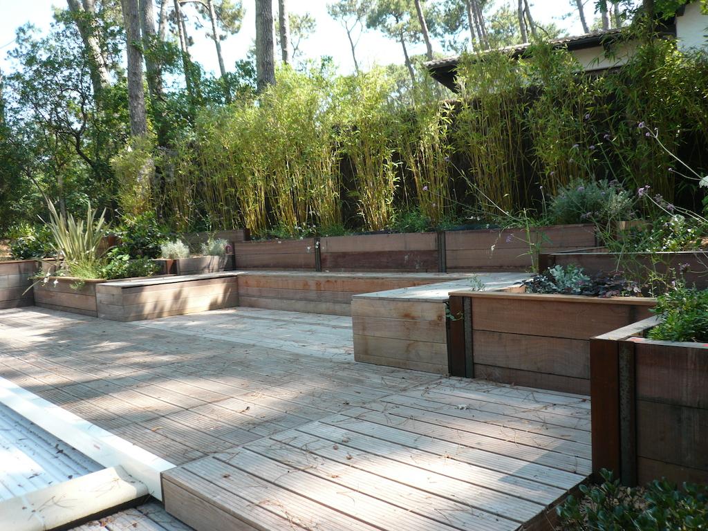R alisation d 39 un sout nement paysager aux abords d 39 une piscine sur le bassin d 39 arcachon - Amenagement d un jardin ...