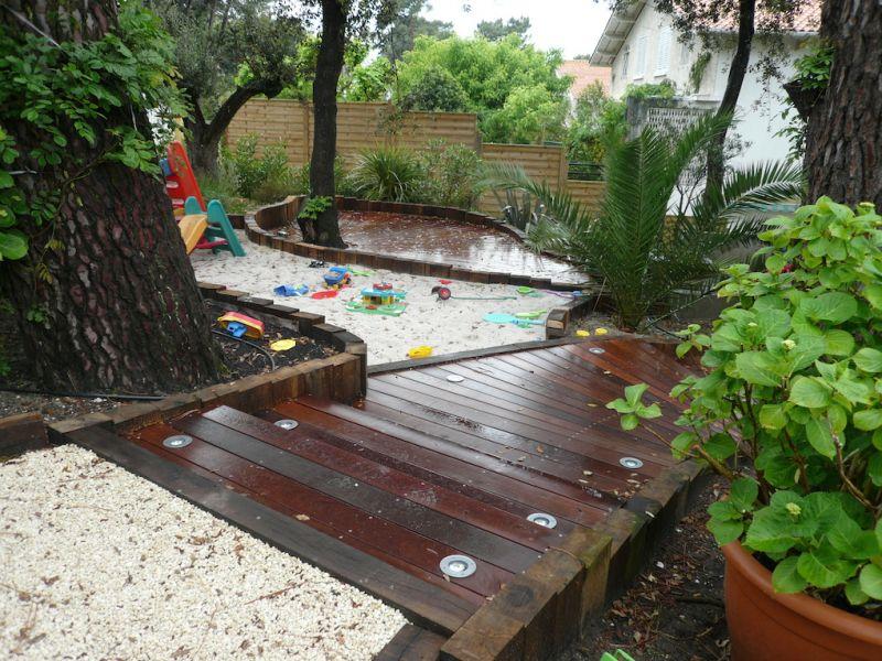 R alisation d 39 une terrasse en caillebotis sur le bassin d for Entretien jardin gujan mestras